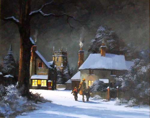 Homeward for Tea - Painting by Alan King