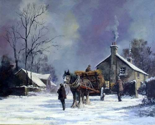 Winter Load - Painting by Alan King