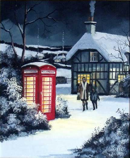 Home in Time for Tea - Painting by Alan King