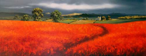 Morning Poppies - Original painting by Allan Morgan