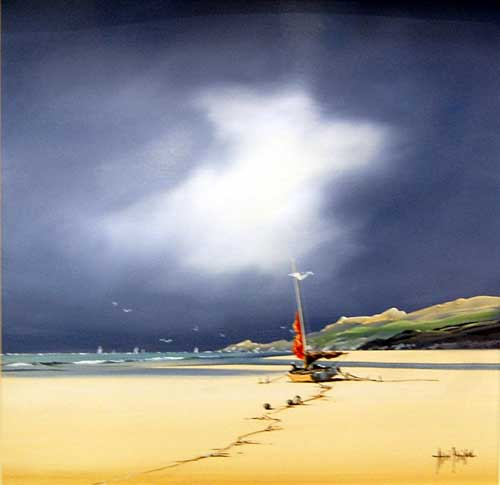 Beach Scene - Original painting by Allan Morgan