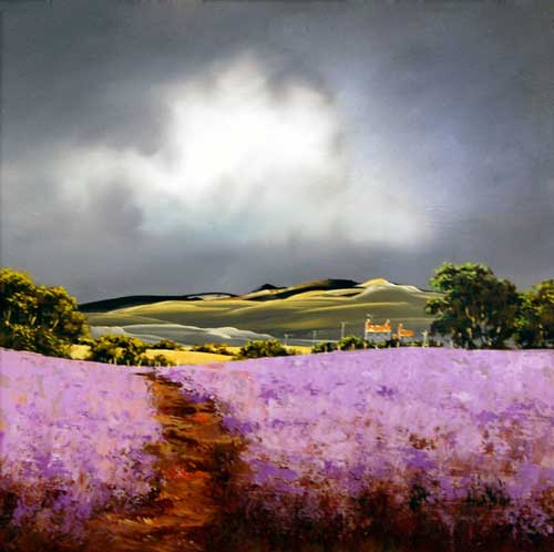 Lavender Fields - Original painting by Allan Morgan