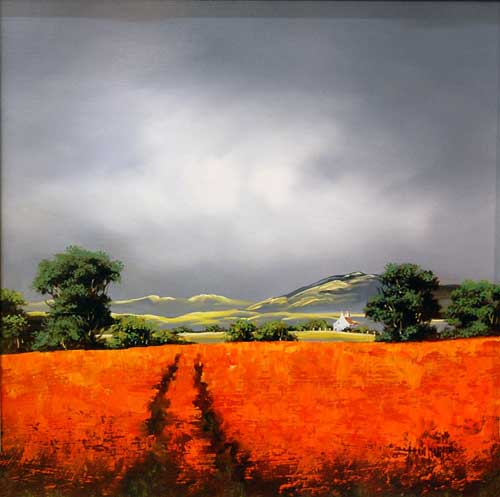 Poppies at Dawn - Original painting by Allan Morgan
