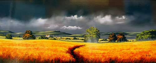 Field of Gold - painting by Allan Morgan