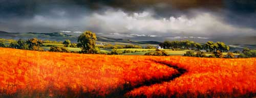 Field of Fire - painting by Allan Morgan