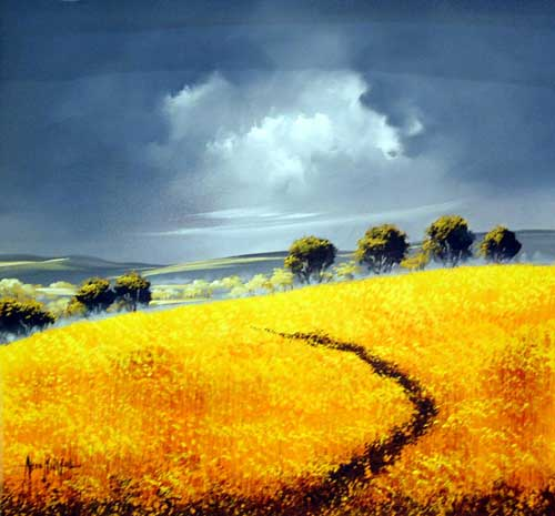 Golden Hills - painting by Allan Morgan