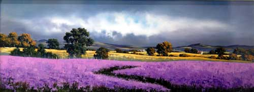 Lilac Field - painting by Allan Morgan