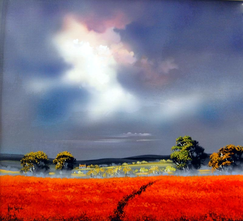 Scarlet Blanket - Painting by Allan Morgan