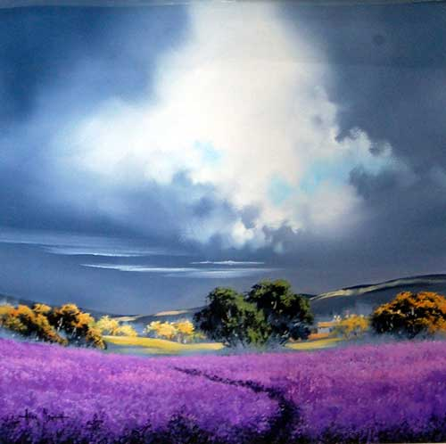 Lavender Fields - painting by Allan Morgan