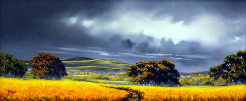 Crowns of Gold - painting by Allan Morgan