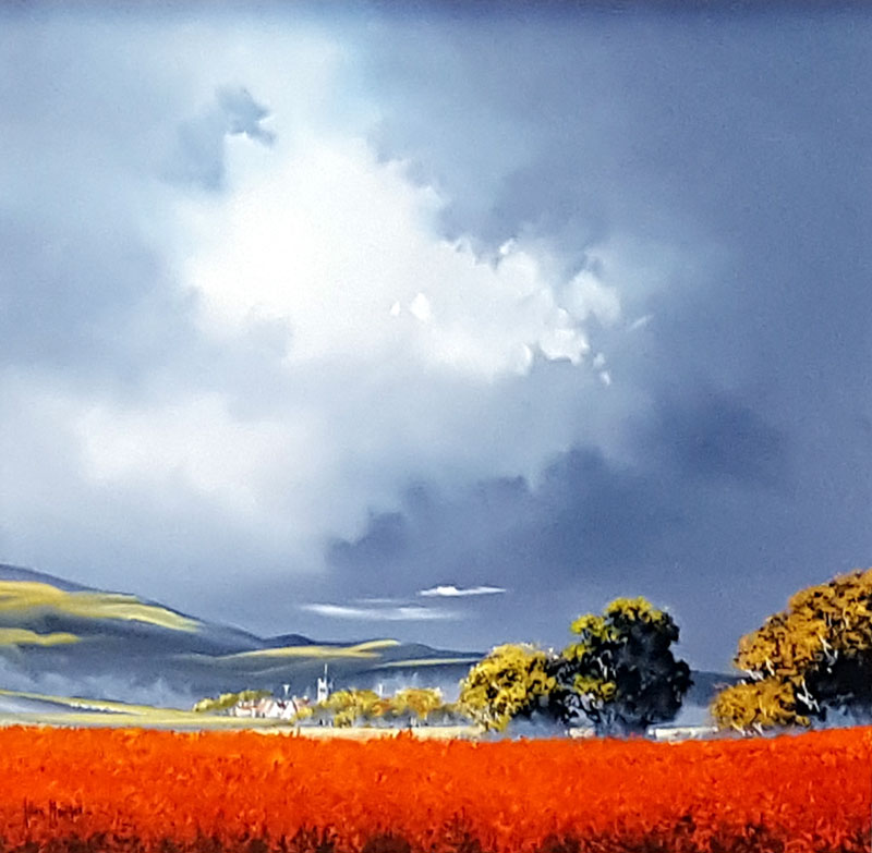Darkening Skies - Painting by Allan Morgan
