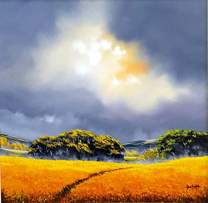 Corn Watch - Painting by Allan Morgan