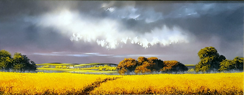 Saffron Dawn - Painting by Allan Morgan