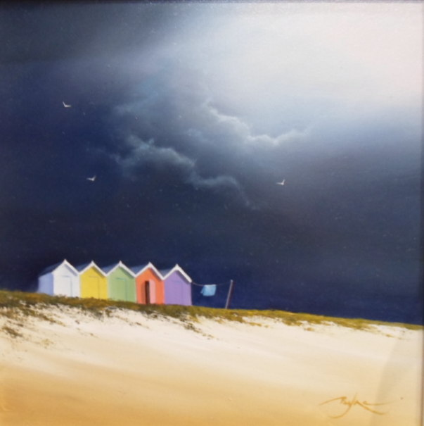 Beach Huts - Painting by Ben Payne