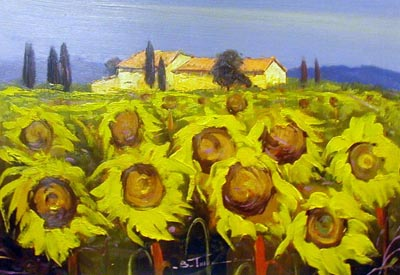 BT047 - Sunflowers - by Bruno Tinucci