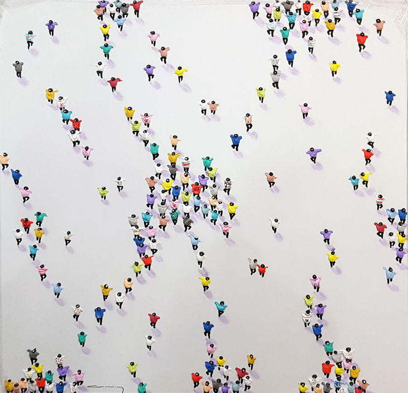 Flash Mob II - Painting by Casimiro Perez