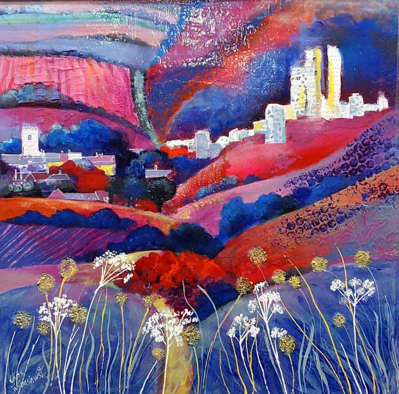 Corfe Castle - Painting by Chris Wilmshurst