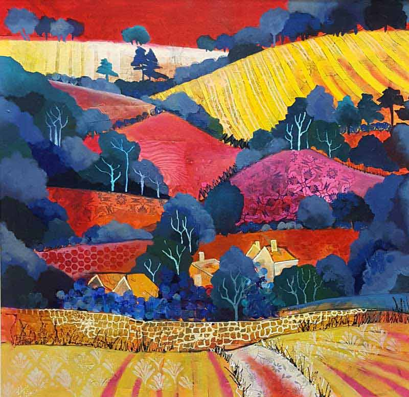 Dorset Downs - Painting by Chris Wilmshurst