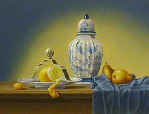Still Life - Painting by Chris Overbeeke