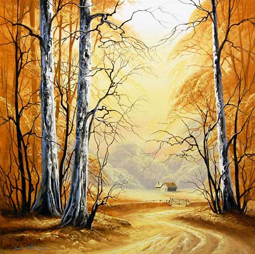 Golden Dell - Original painting by David James
