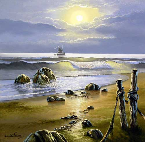 Morning Tides - Original painting by David James