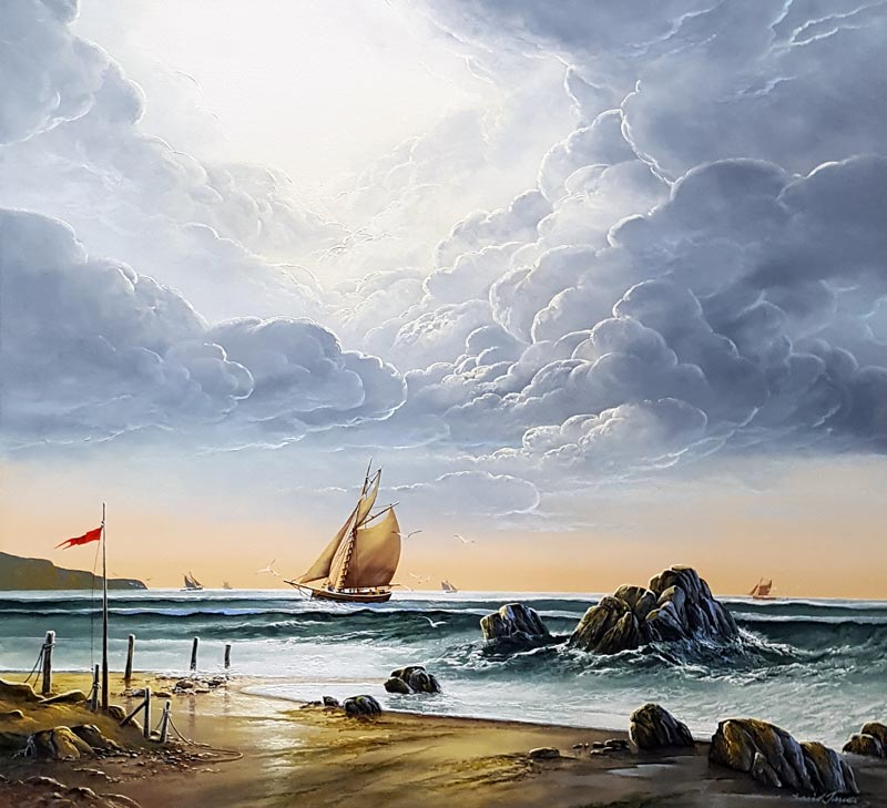 Warm Horizons - Painting by David James
