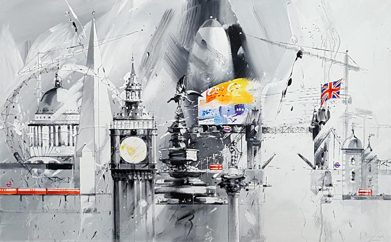 London Heights 2 - Painting by David Pilgrim