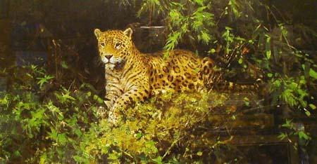 Jaguar - Painting by David Shepherd