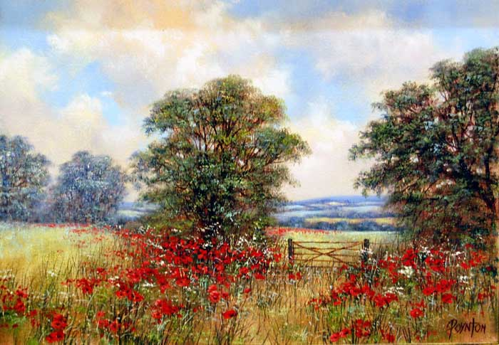 Field of Poppies - Painting by Deborah Poynton