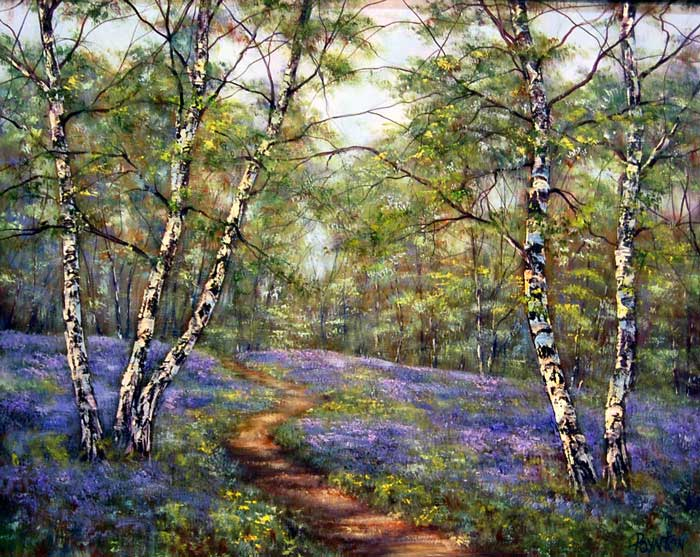 Along the Path - Painting by Deborah Poynton