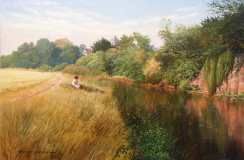 River Scene - Painting by Graham Petley