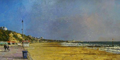 Bournemouth Sea Front - Painting by Ian Hargreaves