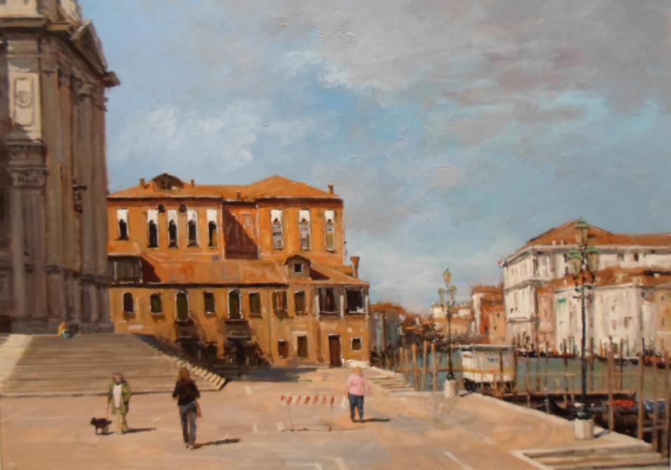 Venice - Painting by Ian Hargreaves