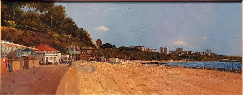 Bournemouth Beach - Painting by Ian Hargreaves