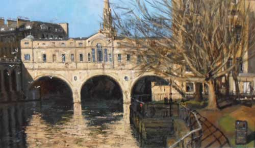 Pulteney Bridge, Bath - Painting by Ian Hargreaves