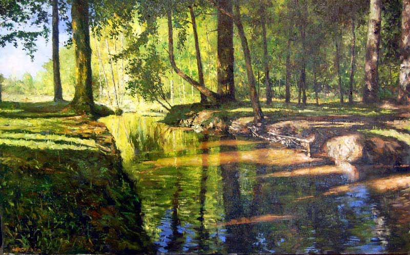 A Dappled Sun - Painting by Ian Hargreaves