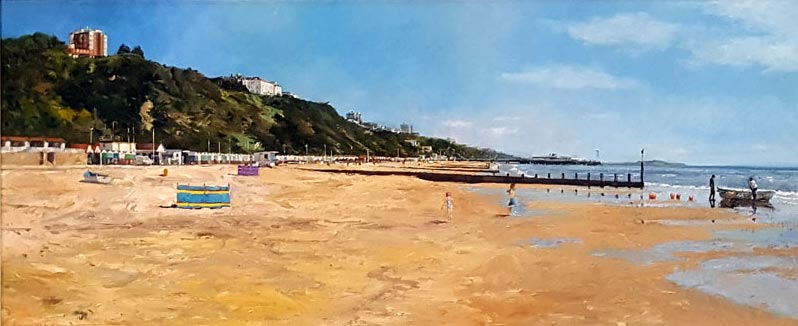 Looking Towards Bournemouth Pier - Painting by Ian Hargreaves
