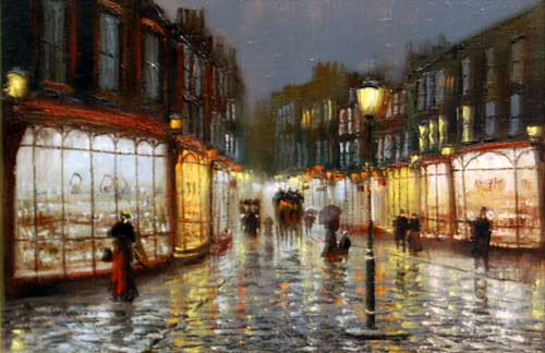 Streets of Old - painting by John Bampfield