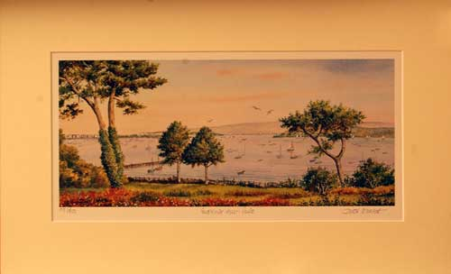 Evening Hill, Poole - Painting by John Dimech