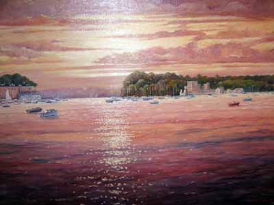 Brownsea Sunset - Painting by John Dimech