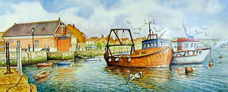 Lifeboat House - Poole Quay - Painting by John Dimech