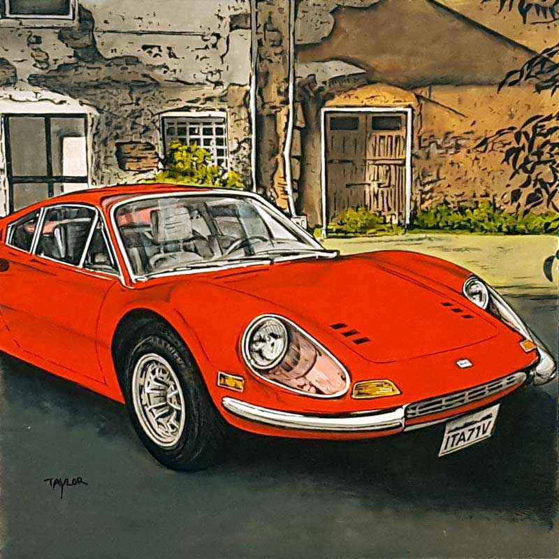 Ferrari - Painting by Martin Taylor
