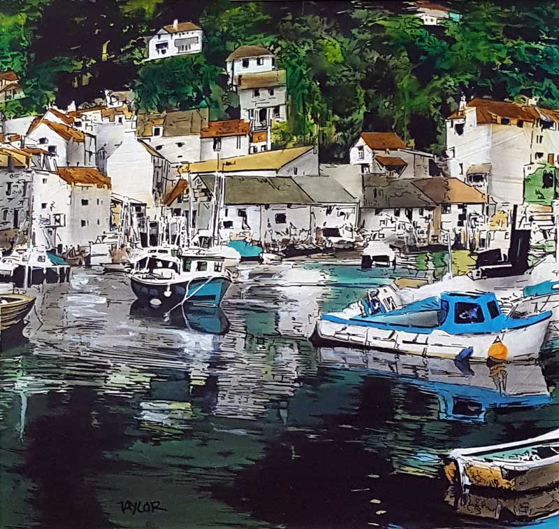 Polperro - Painting by Martin Taylor