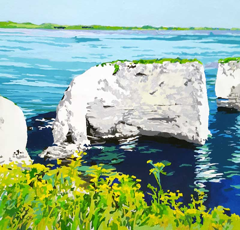 Old Harry Rocks - Painting by Martin Taylor