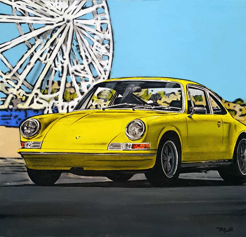 Big Wheels - Painting by Martin Taylor