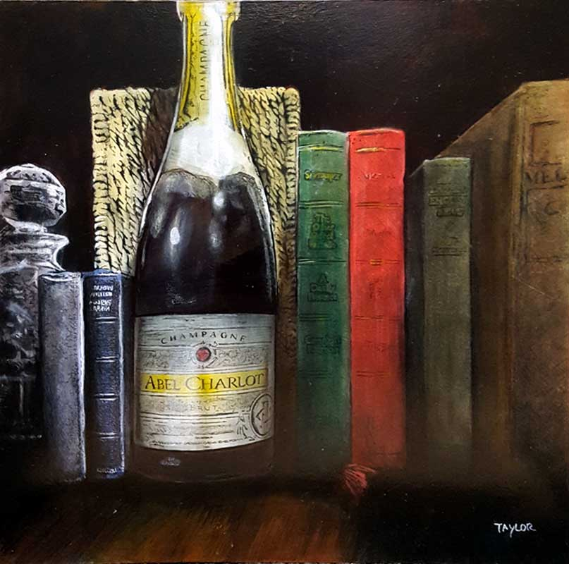 Bookish Bubbles - Painting by Martin Taylor