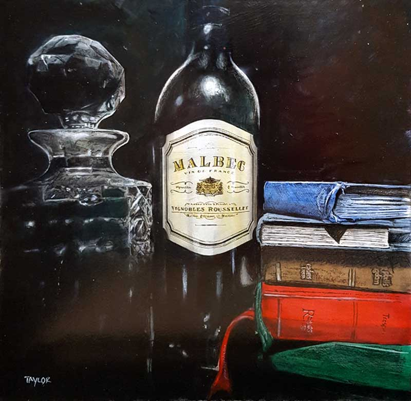 Vintage Words - Painting by Martin Taylor