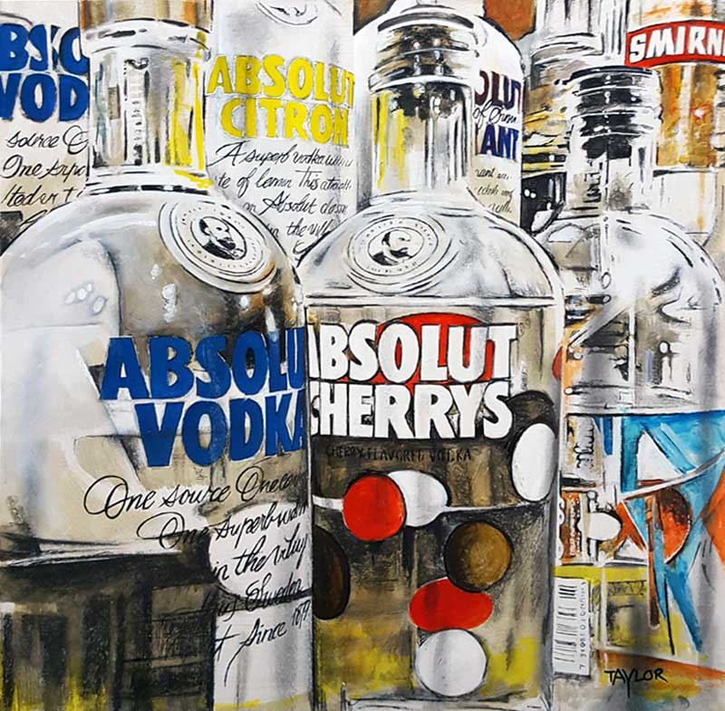 Absolut Spirits - Painting by Martin Taylor