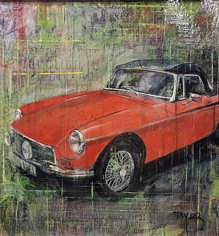 MGB Roadster 1980 - Painting by Martin Taylor