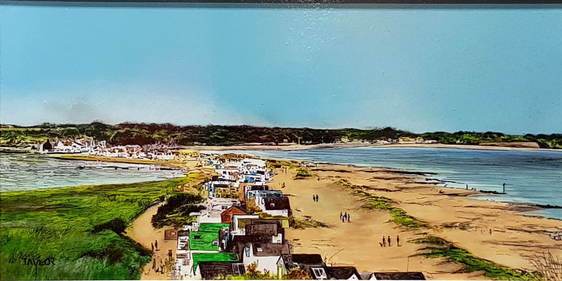 Beach Huts Mudeford - Painting by Martin Taylor